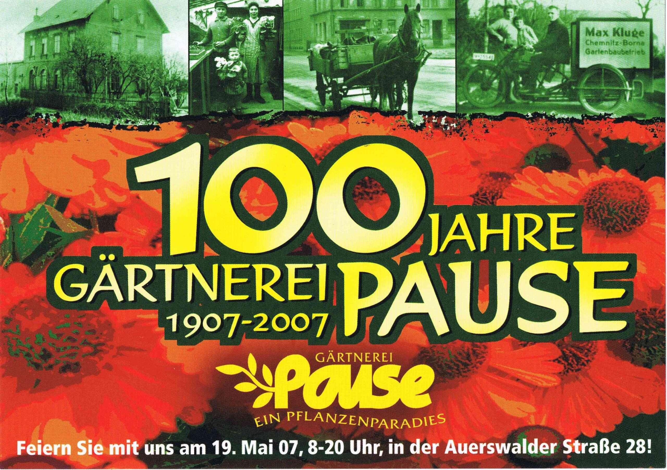 100 Jahre Gärtnerei Pause